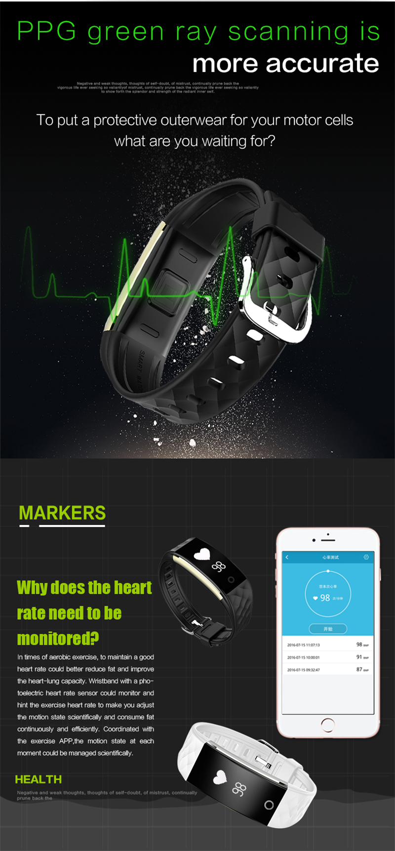 Waterproof Bluetooth Smart Band S2 Smart Wristband Bracelet Heart Rate Pedometer Sleep Fitness Tracker for Android IOS Phones 10