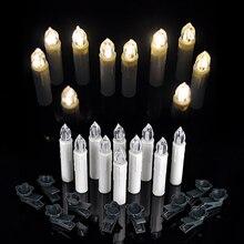10pcs Warm White Birthday Christmas Wedding Tree LED Decorative Candle Tea Lights Wireless Remote Control
