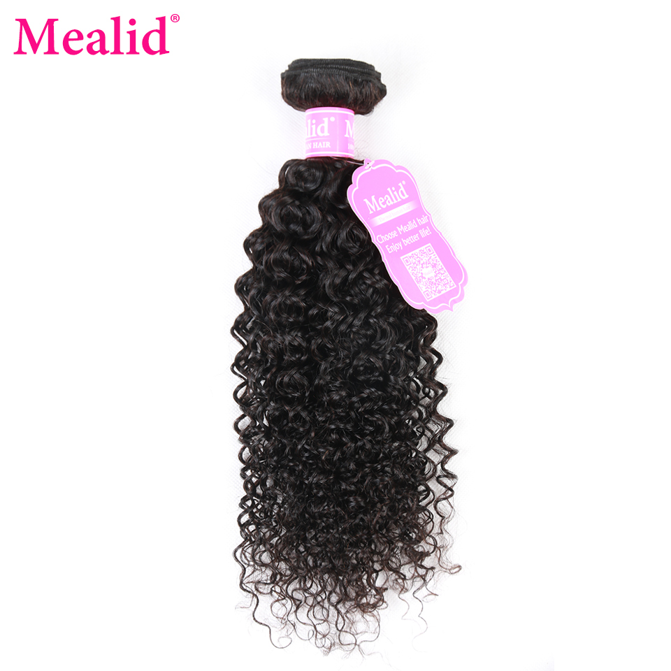 [Mealid] Malaysian Curly Hair Bundles 1 Piece Only Non-remy Natural Color 8-28 Human Hair Weave