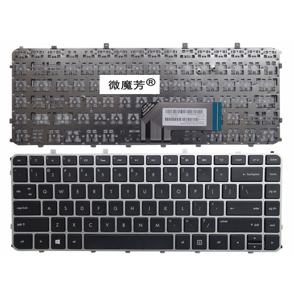 US Replace Laptop Keyboard FOR HP FOR TPN-C102 TPN-C103 HSTNN-UB3R-IB3R Silver New English