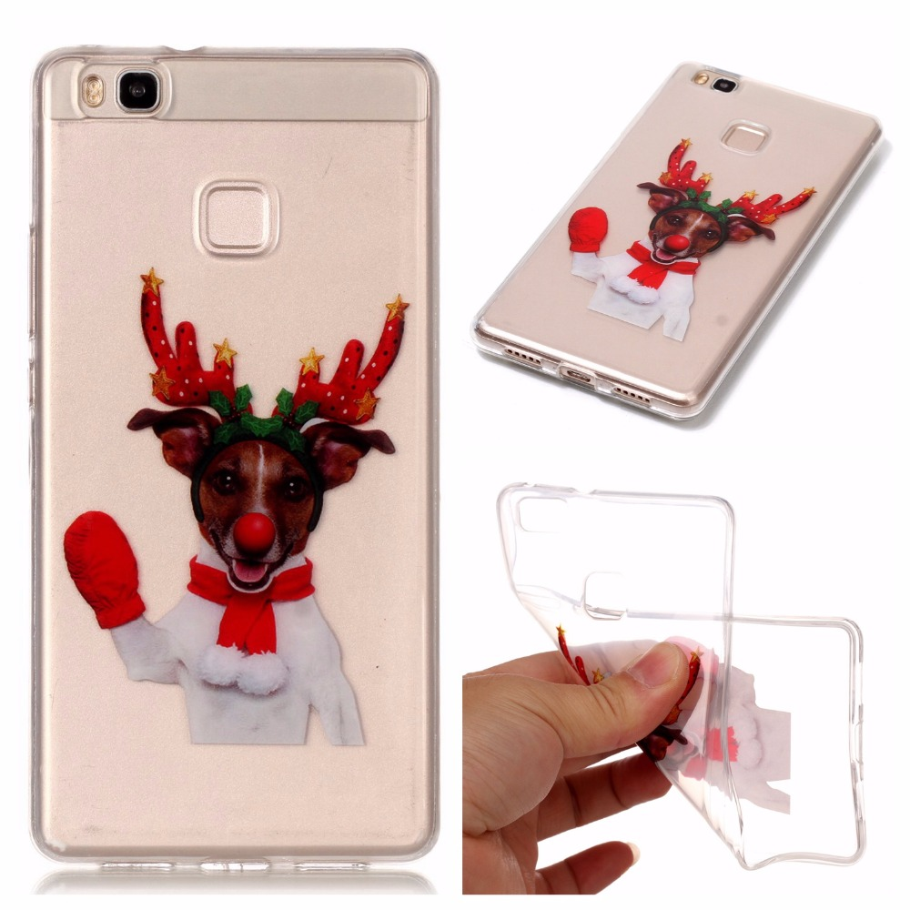 For Huawei P10 Lite P9 Lite Cases Christmas Happy New Year Soft Silicon Case Back Cases For Huawei P8 Lite Cover