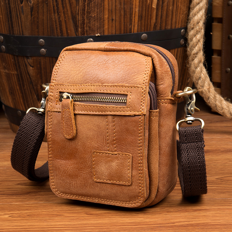 Vintage Genuine Leather Mens Bags Male Crossbody Bags Small Flap Casual Messenger Bag Men's Shoulder Bag genuine leather Skin jason tutu genuine leather crossbody bag top quality vintage soft skin small bag 2017 casual men messenger bags hn241