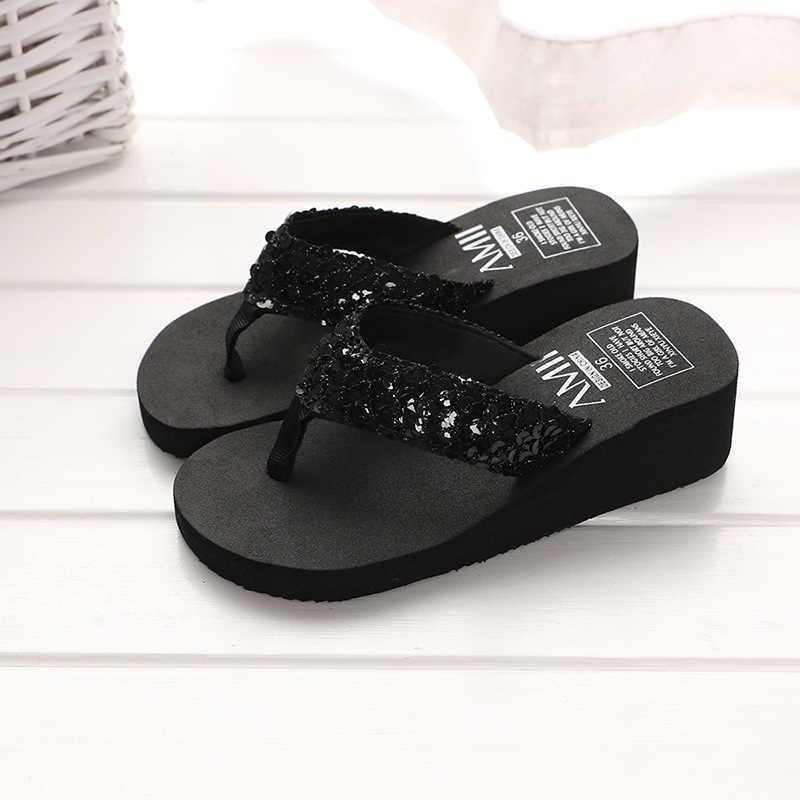 8e9a0f8883190b ... Multicolor Summer Shoes Women Platform Sandals Wedge Flip Flops Sapato  Feminino High Heel Slippers Sandalias Plataforma ...