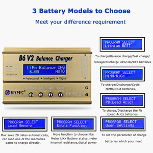Image 3 - HTRC Imax B6 V2 Balance Charger 80W Professional Digital Discharger For LiHV LiIonLiFe NiCd NiMH PB Battery LiPo Charger