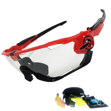 JAW Breaker Polarized Sports Men Cycling Glasses 4 Lens Photochromic Cycling Eyewear Sunglasses Anti Goggles With Myopia Frame