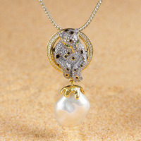 pearls deserve to act the role of Chinese zodiac animals tiger 925 sterling silver jewelry sweater chain pendant