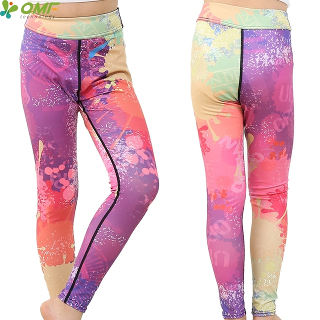 4364292ca0 Colorful Graffiti Paint Abstract Full Print Girls Yoga Pants Breathable  Teenager Leggings Kids Skinny Sports Trousers