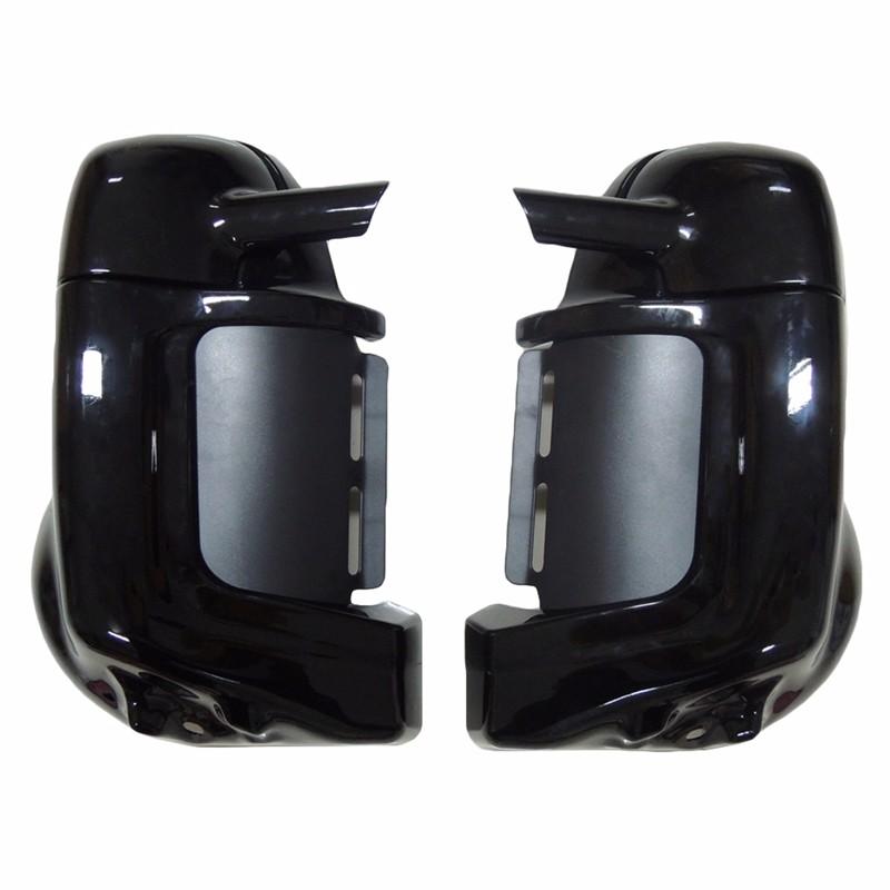 Painted Black Lower Vented Leg Fairing Gloves Box For Harley Touring Models Road King FLT FLHT FLHTCU Street Glide Ultra-Classic (10)