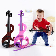 Mini Electric Violin Earlier Childhood Music ABS Instrument Toy Simulation Violins 2 Colors For Children Toys TC0010(China)