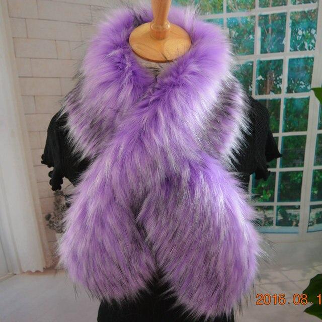 new 2016AW faux fur scarf crossover fur scarf long multicolor mufflers imitation fur shawl fluffy fake fur collar winter scarf
