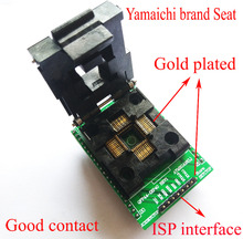 Adaptador LQFP44 TQFP44 a DIP40, CHIP Adpater QFP44, bloque de prueba de quemaduras, atmega16 atmega32 lqfp AVR, programador de enchufe