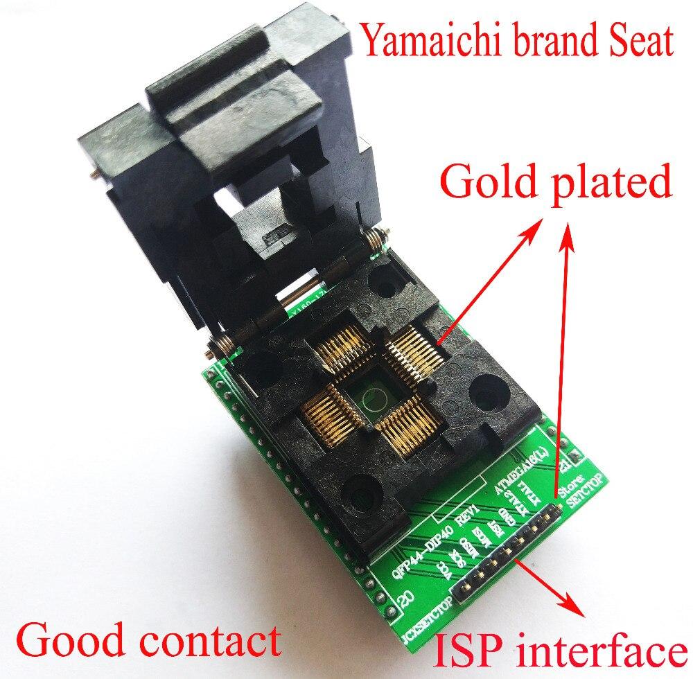 LQFP44 TQFP44 QFP44 a DIP40 adaptador Adpater lqfp CHIP IC Bloque de prueba burn atmega16 atmega32 AVR programador socket