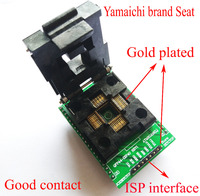 TQFP44 To DIP40 Socket Test Burn Adapter Block Atmega16 Atmega32 Lqfp AVR Socket Programmer