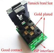 Lqfp44 tqfp44 para dip40 adaptador qfp44 adpater ic chip teste queimadura bloco atmega16 atmega32 lqfp avr soquete programador
