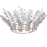 2019 pearl crystal leaf princess tiara queen crown bride wedding hair accessories bridal tiara