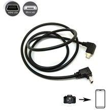 CABLE OTG de cámara a teléfono para cámara canon, teléfono inteligente, tableta, micro usb a mini usb de 5 pines