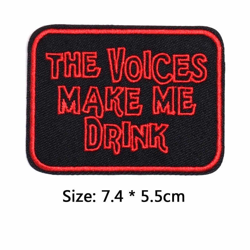 1PC วลีภาษาอังกฤษตัวอักษรเหล็กบนเย็บปักถักร้อย Patch Patches เสื้อผ้าสำหรับสติกเกอร์เสื้อผ้าเสื้อผ้ากระเป๋า Diy อุปกรณ์ขายส่ง