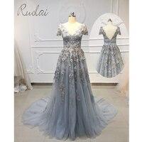 3D flowers pearls Long Prom Dresses 2019 Short Sleeve Dress Prom Gown For Women Formal Dress vestidos de fiesta