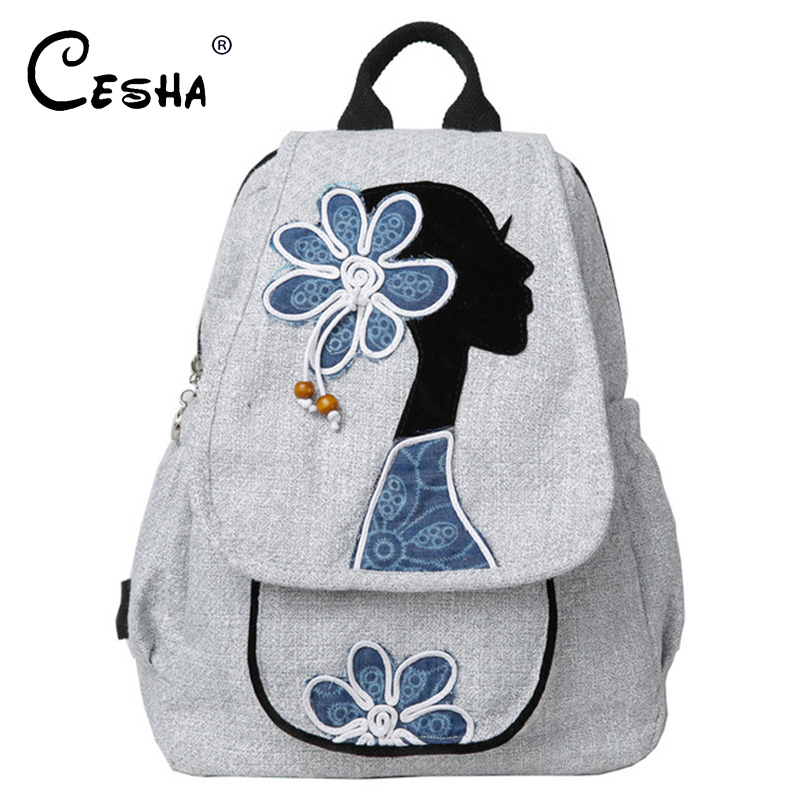 Fashion Girl Pattern Women Multifunction Backpack Chinese Style Knitted Embroidery Shoulder Bag Girl Leisure Traveller BackpackFashion Girl Pattern Women Multifunction Backpack Chinese Style Knitted Embroidery Shoulder Bag Girl Leisure Traveller Backpack