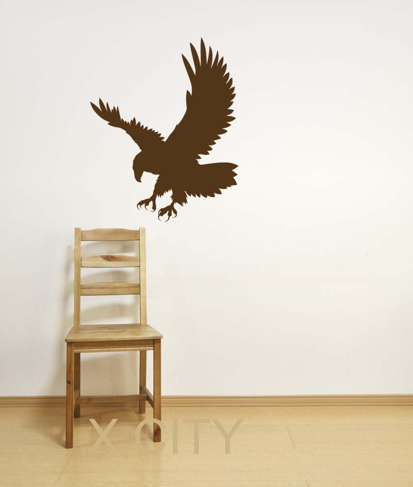 compare prices on wall stencil stickers online shopping buy low american eagle silhouette wall art sticker vinyl decal die cut room stencil mural home office decor
