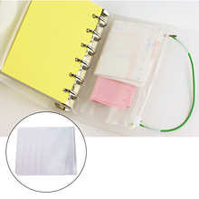 5 шт. A5/A6Clear ПВХ папка на молнии карманы 6 отверстий для документов папка для документов держатель для документов сумка Защита