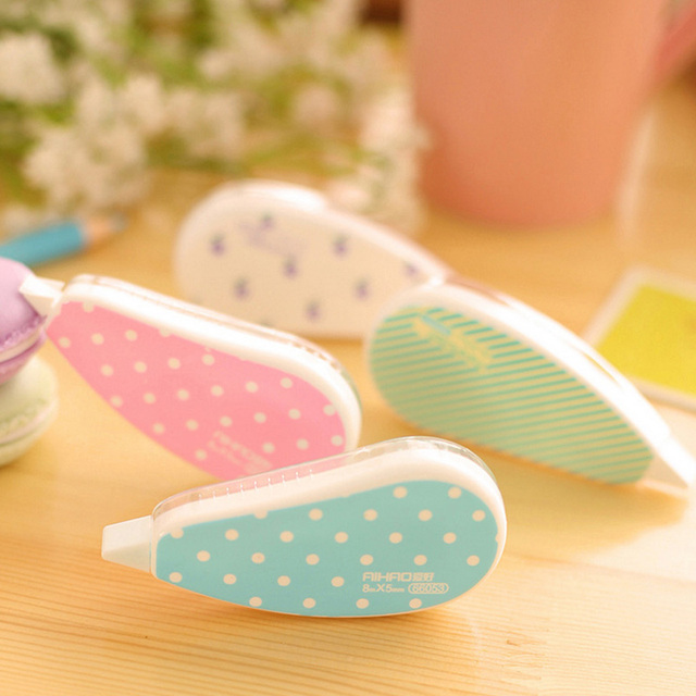 2 Pcs Fresh Style Correction Tape Kawaii Material Escolar Korean Stationery School Supplies Papelaria