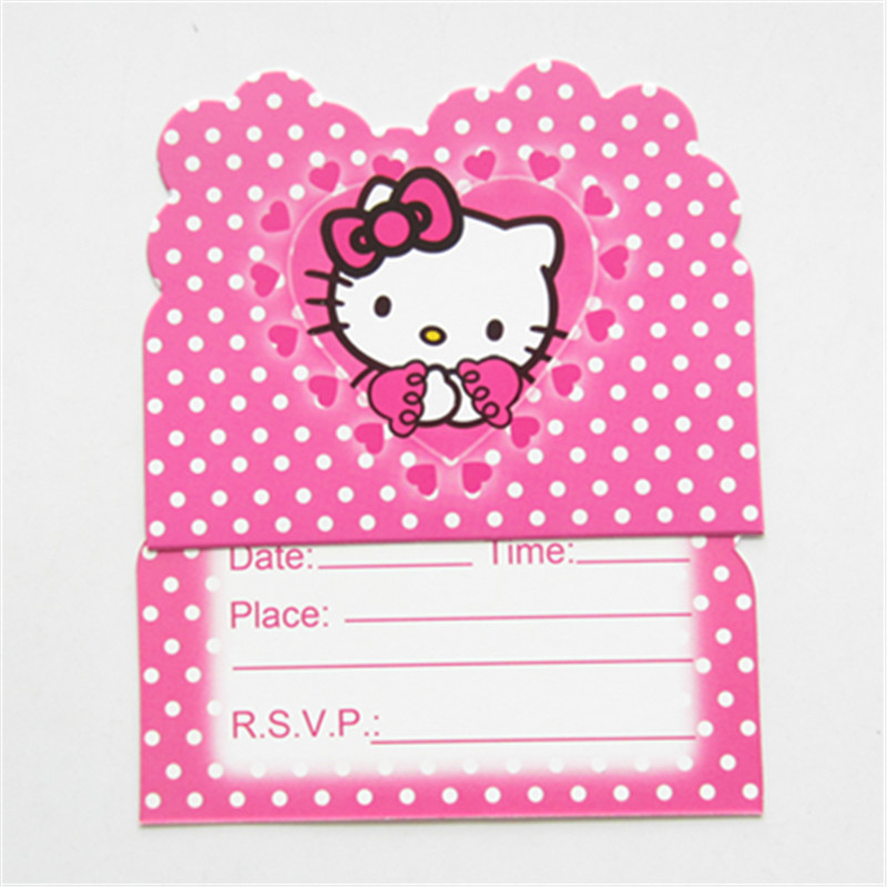 10pcs hello kitty theme party invitation card invitations for kids 10pcs hello kitty theme party invitation card invitations for kids birthday party decoration baby shower supplies in cards invitations from home garden stopboris Image collections