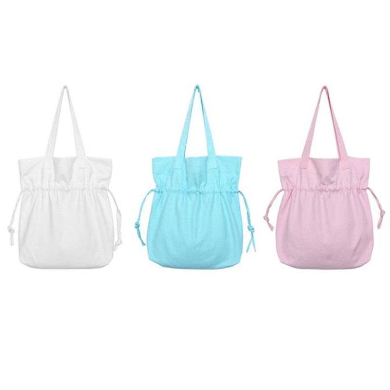 Women New Simple Fresh Style Canvas HandBags Women Messenge Large Bags Female Crossbody Diagonal Shoulder Bags Clutch Purse Bag