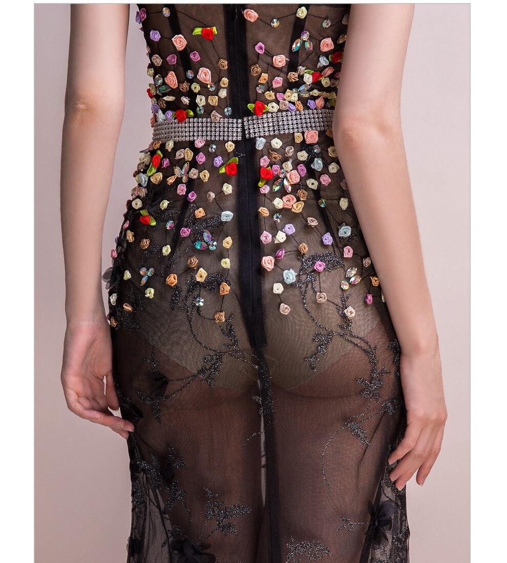 18 Women Dresses Mesh Elegant Party Club Wear Sexy Wrap Summer Long Sweet Floral Nightclub See Through Gothic Lolita Dress 12