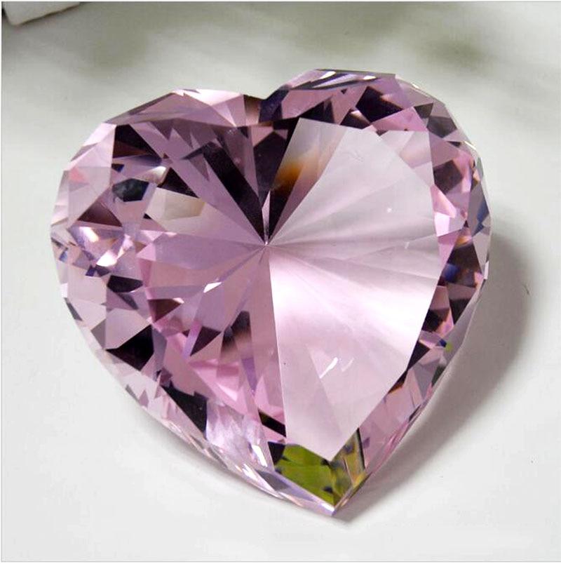 90mm formë zemre shumëngjyrëshe Diamanti i kristalit Diamanti i - Dekor në shtëpi - Foto 2