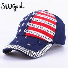 SWGOOL бейсболки 2017 мода высокого качества шляпа Для мужчины женщины регулируемая крышка хлопка горный хрусталь звезда Denim cap hat(China (Mainland))