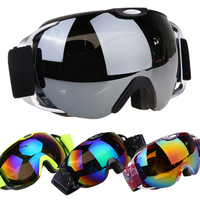 New Brand Professional Ski Goggles Double Layers UV400 Anti Fog Big Ski Mask Glasses Skiing Men