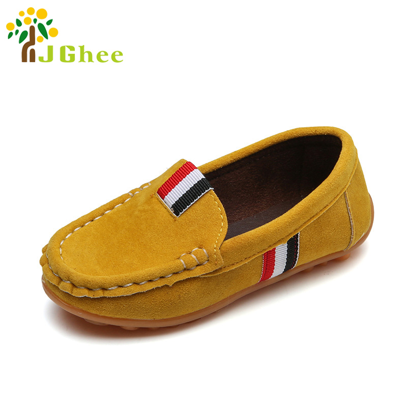 2020 Spring Autumn Kids Shoes For Boys Children's Casual Sneakers Loafers For Medium Boys Slip-on Fashion Soft 16-18.6CM Flats
