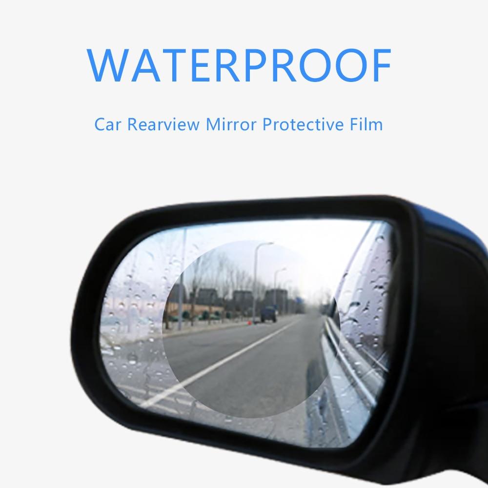 United Motolovee 2pcs Car Rain Film Rearview Mirror Protective Film Anti Fog Membrane Anti-glare Waterproof Rainproof Car Mirror Window Awnings & Shelters
