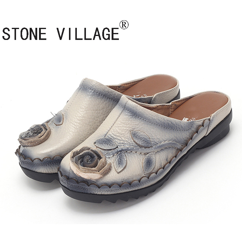 STONE VILLAGE Freee Shipping 2017 Ethnic Style Genuine Leaths
