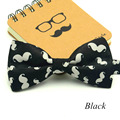 1Piece/lot Fashion Little Beard Bow Tie For Men Pattern Bowtie Leisure Black White Polyester Cravat Gravata Lovely Brand
