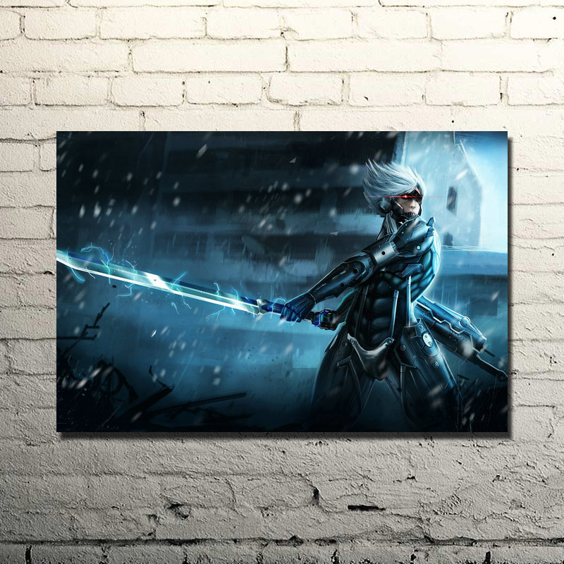 Us 4 67 22 Off Metal Gear Solid V The Phantom Pain Silk Wall Poster Art Print 13x20 32x48 Inch Solid Snake Gme Pictures For Home Decor 001 In