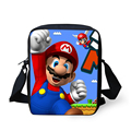 FORUDESIGNS Mini Children School Bags Cartoon Super Mario Printing Cross body Shoulder Bags for Kids Small Boys Girls Schoolbag
