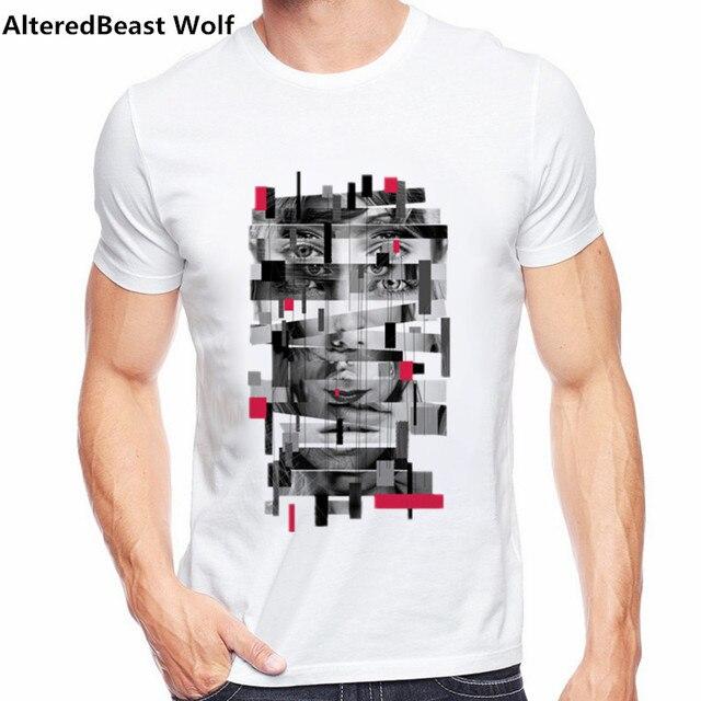 ef220ece9 Funny Censored lips printed t shirt 2017 Fashion Brand T-shirt Hipster Tee  Shirt Homme Short Sleeve Tshirt Men