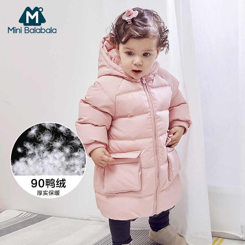 Пуховик для девочки, зимнее теплое пальто с капюшоном для мальчиков, куртка с длинными рукавами для маленьких мальчиков, детская парка, верхняя одежда