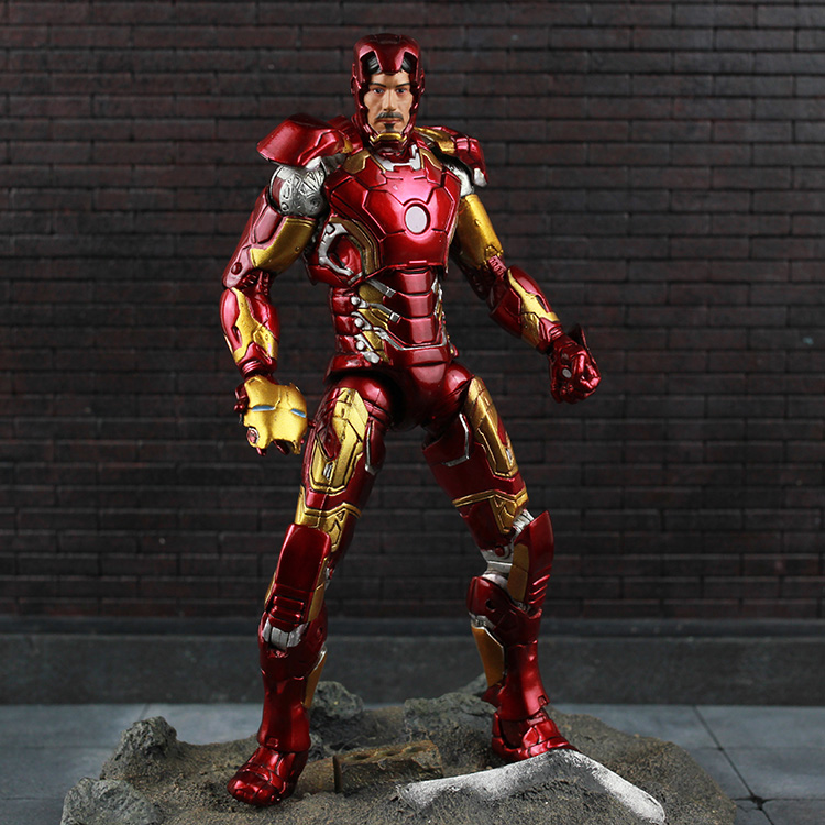 Tobyfancy The Avengers Captain America 3 Civil War Iron-Man MK43 MK46 Action Figure Movable Joints Collection Model Toy