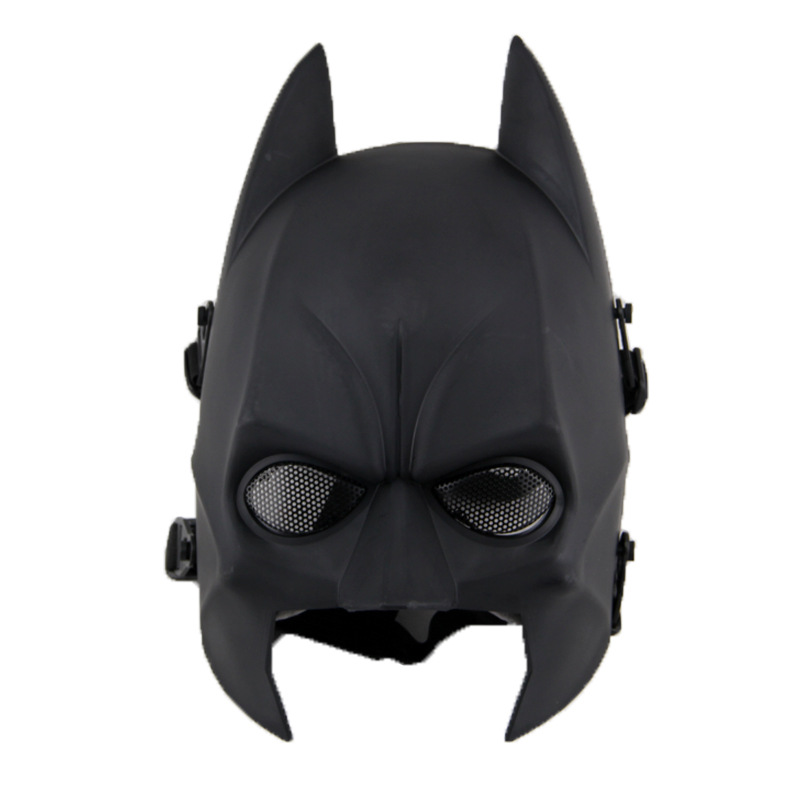 DC09 Batman Black Military Tactical Skull Ghost Protective Full Face Airsoft Mask Paintball Wargame Cosplay Halloween Party