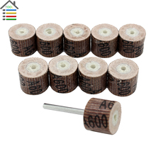 10pcs 600 Grit Sanding Sandpaper Grinding Flap Wheel Dremel Accessories Rotary Tool Abrasive Buffing Stone Polishing