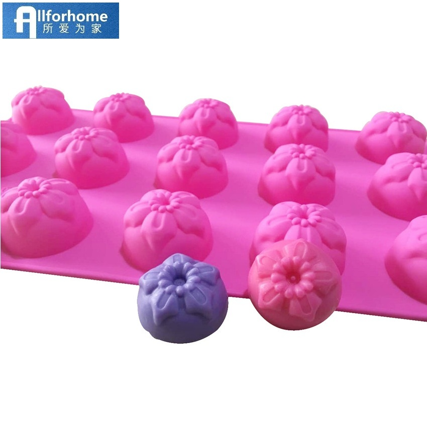 15 Flower Silicone Cake Baking Mold Cake Pan Muffin Cups Handmade Soap Moulds Biscuit Chocolate Ice Cube Tray DIY Mold