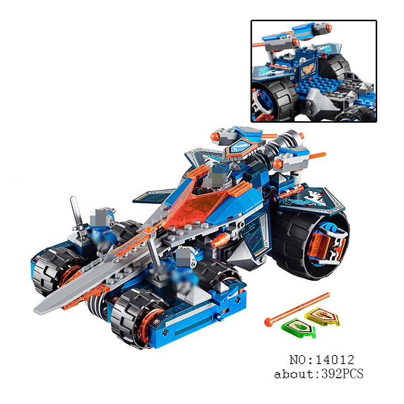 Compatible with lego 70315 nexoe knights Model 14012 392pcs Clay's Rumble Blade Figure building blocks bricks toys for children lepin 14011 nexoe knights nfernox captures the queen model building kits aaron minifigures blocks bricks compatible with lego