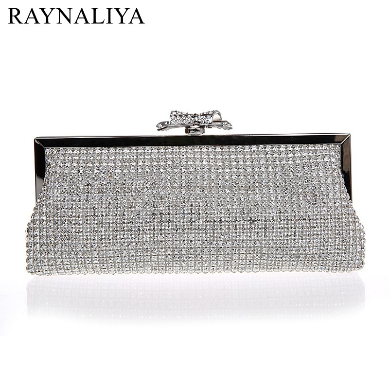 2017 New Arrival Women Evening Bag Solid Colors Ladies Sequined Clutch Bags Bridal Wedding Party Bags Handbag Smysfx-e0251