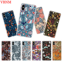 Deep Color Flowers Luxury Silicome Phone Case For iPhone 7 8 6 6S Plus X 10 Ten XS MAX XR 5 5S SE Customized Cover Cases Coque