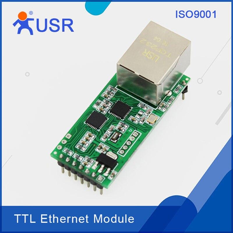 USR-TCP232-T2 Intégré Ethernet Module RS232 Série UART TTL à Ethernet Réseau Convertisseur avec Tcp Ip HTTPD Client DHCP DNSQ002
