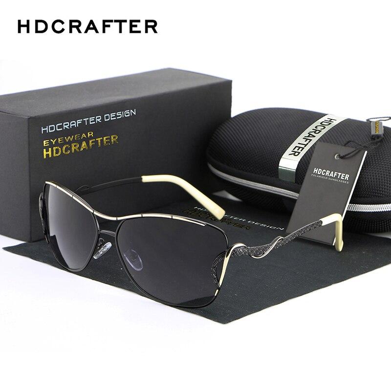 HDCRAFTER חם למכור משקפיים שמש לנשים וינטג מקוטב נהיגה משקפי שמש משקפיים נשות למעצב מותג נקבה