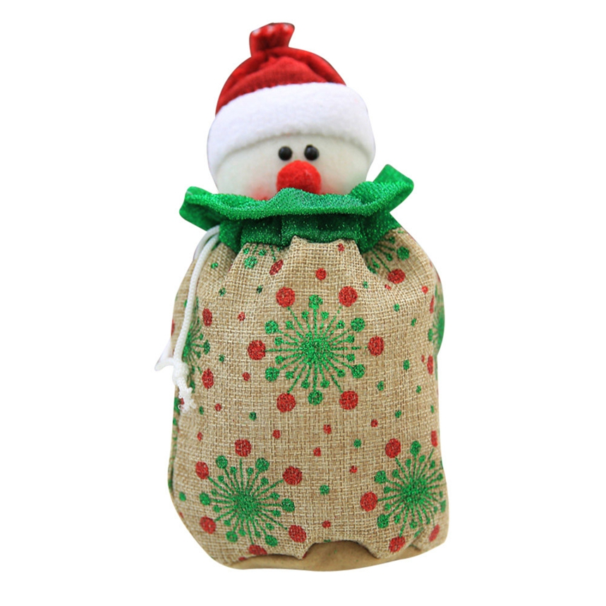 New Arrive Santa Claus Snowman Christmas Gift Bag Decoration Tree Ornaments Christmas Candy Bags Gift Holders for Childrens A11